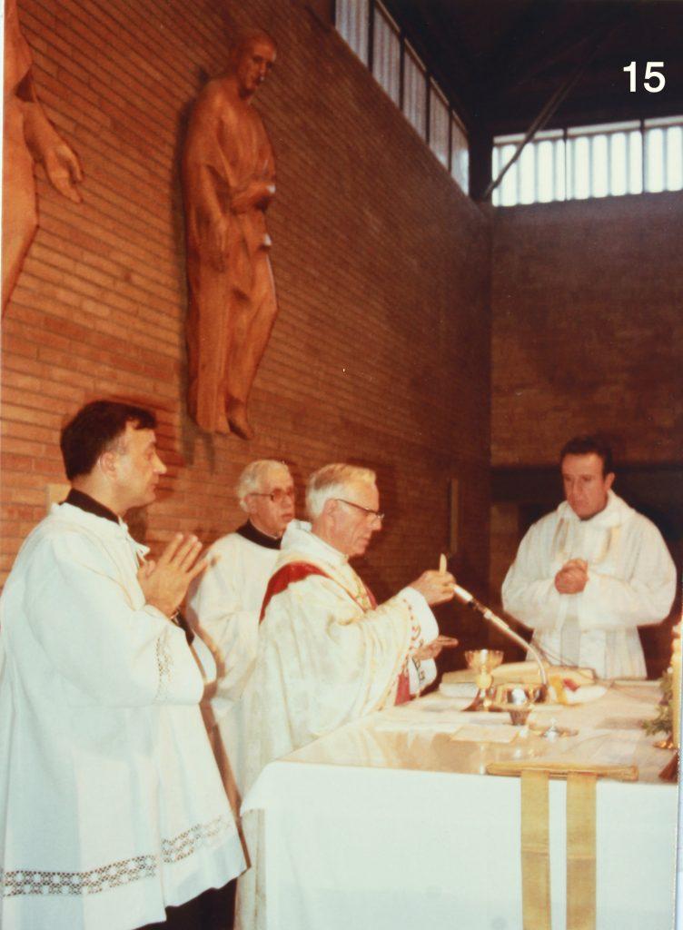 Darrera visita pastoral del bisbe Ramon Masnou a la parròquia.