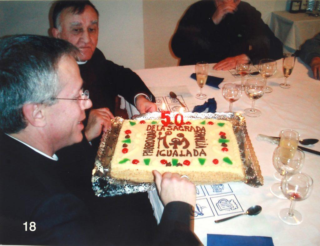 El Senyor bisbe Romà en el dinar commemoratiu dels 50 anys de la parròquia (2004)