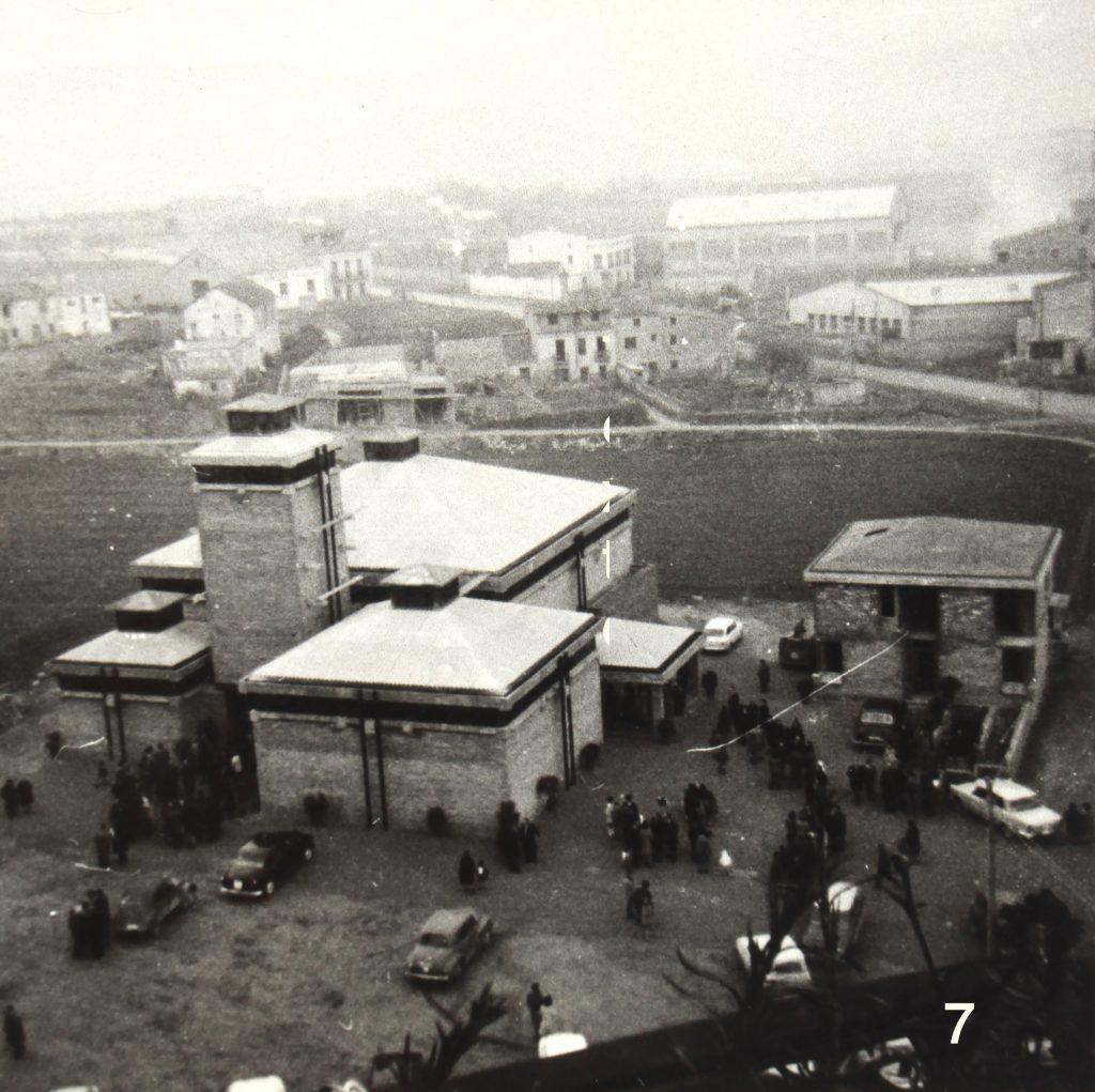 La primera fase del temple enllestida (1969).